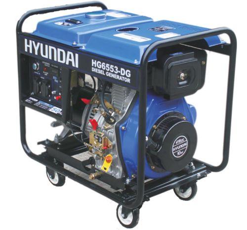 ژنراتور برق 5٫3 کیلو وات هیوندای HG 6553-DG