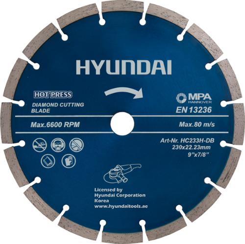 صفحه گرانیت بر 230 میلیمتر هیوندای HC233H-DB